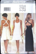 Butterick Sewing Pattern 3931 Misses' Lined Dresses, Size 6 8 10 12