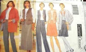 Butterick Sewing Pattern 4637 Misses'/ Misses' Petite Jacket, Vest, Top, Skirt & Pants, Size 6 8 10