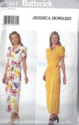 Butterick Sewing Pattern 5031 Misses' Mock Wrap Dress, Size 6-8-10