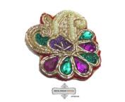 Floral Design Art Craft Indian Applique Sewing Fabric Home Décor Dress Patches 10 Pcs