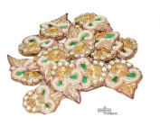 Floral Design Craft Fabric Bridal Sewing Fabric Dress Costume Patches Home Decor Traditional Patch 10 Pcs.