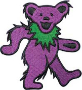 The Grateful Dead Dancing Bear Purple Embroidered Patch