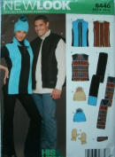 HIS & HERS VEST, HAT, GLOVES AND SCARF SIZE BUST/CHEST 30-32-34-36-38-40-42-44-46-48 NEW LOOK BY SIMPLICITY 6440