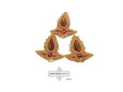 Indian Art Craft Applique Handmade Sewing Dress Home Decor Bullion Patches 10 Pcs