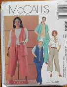 McCall's 3664 Sewing Pattern ~ Women's Shirt, Vest, Pants and Culottes, Sizes 18W-20W-22W-24W