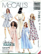 McCall's 7195 Misses' Jumpsuit, Romper and Dress in 2 Lengths, Size B 8 10 12