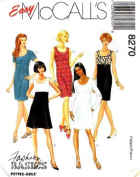 McCall's Sewing Pattern 8270 Misses' Empire Waist Dress, B