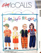 McCall's Sewing Pattern 8300 Toddlers' T-shirt, Lined Vest & Pull-on Pants or Shorts, Size CB