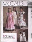McCall's Sewing Pattern 8640 Girls' Formal/Flower Girl Dress in 2 Lengths, Size CH