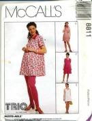 McCall's Sewing Pattern 8811 Misses' Maternity Top, Rompers in 2 Lengths and Leggings in 2 Lengths, Size A