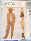 McCall's Sewing Pattern 8848 Misses' Unlined Jacket, Top, Pull-on Pants, Shorts & Skirt, Size E