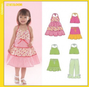 New Look 6502 Toddler Halter Top, Skirt & Pants, Size A 1/2 - 4