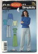 Simplicity 4023 Pattern Slacks/Tops Size A 8-18