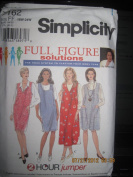 Simplicity 7162 Womens' Full Figure Solutions, 2 Hour Jumper, Size 18W - 24W