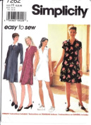 Simplicity 7262 Misses' Knee Length Dress, Size H 6 8 10
