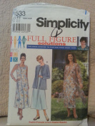 Simplicity 8533 Women's Dress & Jacket in two lengths Size FF