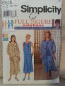 Simplicity 8645 Women's Skirt, Shirt & Jacket Size FF