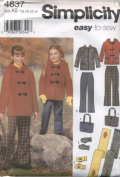 Simplicity Childs' and Girls' Pants, Jacket, Scarf, Mittens and Bag Sewing Pattern # 4837