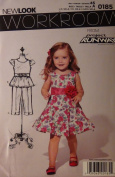 Simplicity New Look Toddlers Project Runway Dress 0185 Sewing Pattern Size A