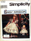 Simplicity Sewing Pattern 7282 Daisy Kingdom Girl's Dress and Matching Dress for 43cm Doll, AA