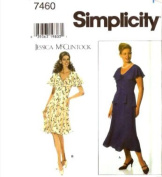 Simplicity Sewing Pattern 7460 Misses' Dress - Jessica McClintock, P