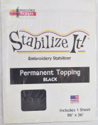 STABALIZE IT EMBROIDERY STABALIZER. PERMANENT TOPPING BLACK 1YD