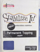 STABALIZE IT EMBROIDERY STABALIZER. PERMANENT TOPPING NAVY 1YD