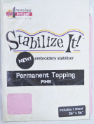 STABALIZE IT EMBROIDERY STABALIZER. PERMANENT TOPPING PINK 1YD