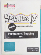 STABALIZE IT EMBROIDERY STABALIZER. PERMANENT TOPPING TEAL 1YD