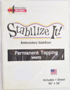 STABALIZE IT EMBROIDERY STABALIZER. PERMANENT TOPPING WHITE 1YD