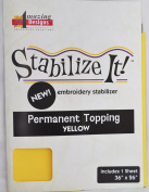 STABALIZE IT EMBROIDERY STABALIZER. PERMANENT TOPPING YELLOW