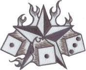 Tattoo Art Patch - Star & Flaming Dice Patch