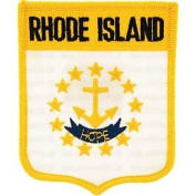 United States USA State Flag Shield Crest Novelty Iron On Patch - Rhode Island Applique