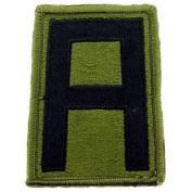 US Military Embroidered Iron on Patch - United States Army Collection - United States Army 1st Army Subdued Applique