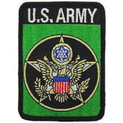 US Military Embroidered Iron on Patch - United States Army Collection - United States Army Logo Rectangular Applique