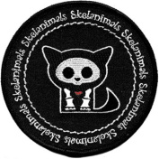 Skelanimals - Kitty - Iron on or Sew on Embroidered Patch