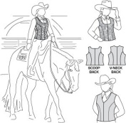 Suitability 4370 Womens & Girls Zippered Show Vests Zip Vest Equestrian Sewing Pattern