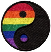 Yin Yang Gay Lesbian Pride Rainbow Retro Lgbt Applique Iron-on Patch New S-133 Cute Gift to Your Cloth.