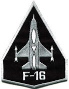 F-16 Fighting Falcon Usaf Air Force Jet Aircraft Applique Iron-on Patch S-617 Cute Gift to Your Cloth.