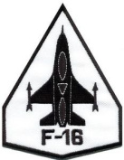 F-16 Fighting Falcon Usaf Air Force Jet Aircraft Applique Iron-on Patch S-689 Cute Gift to Your Cloth.