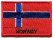 Flag of Norway Norwegian Scandinavian Europe Applique Iron-on Patch S-934 Cute Gift to Your Cloth.