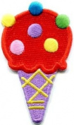 Ice Cream Cone 70s Retro Fun Dessert Sweets Kids Applique Iron-on Patch S-380 Cute Gift to Your Cloth.