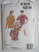 Kwik Sew Pattern 2265 Misses' Top & Tunics Sizes XS-S-M-L-XL