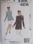 Kwik Sew Pattern 2670 Misses' Jackets Sizes XS-XL