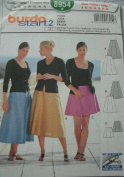 MISSES SKIRTS IN THREE LENGTHS SIZE 8-10-12-14-16-18-20 BURDA START 2 PATTERN 8954 RATED EASY