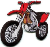 Motorcycle Motocross Racing Dirt Bike Off-road Applique Iron-on Patch New S-679 Cute Gift to Your Cloth.