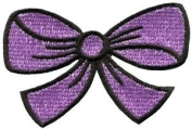 Purple Bow Knot Ribbon Boho Retro Sew Sewing Applique Iron-on Patch New S-440 Cute Gift to Your Cloth.