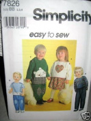 Simplicity 7826 Toddlers' Top, Skirt, and Pants Patterns - Size BB