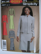 Simplicity Pattern 4921 Misses'/Miss Petite Dress or Jumper and Lined Jacket Sizes 6-16
