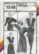 "Stretch & Sew Pattern 1548 ~ French ""T"" Top & Dress Collection ~ Bust 30-46"